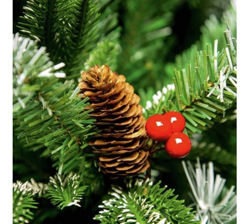 Premier Frosted Spruce Tree Berries & Cones