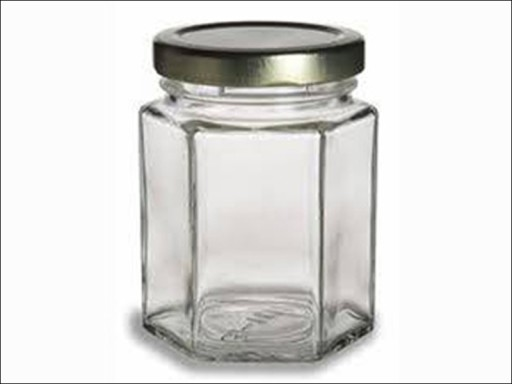 Freeman Hexagon Jar 8Oz & Lid 195Ml