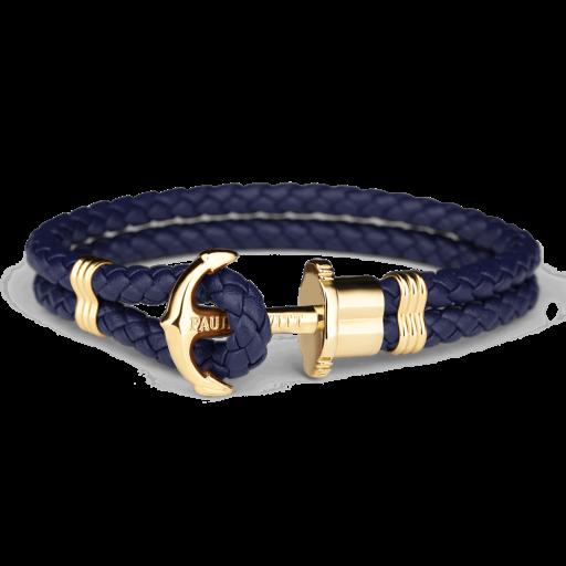 Bracelet Paul Hewitt Navy/ Gold Anchor