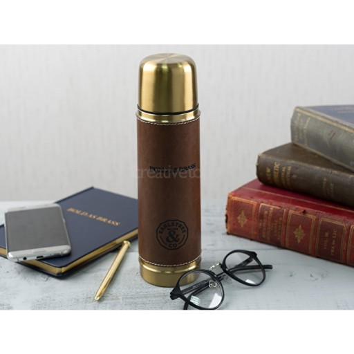 Flask Bold As Brass / Faux Leather