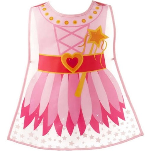 Cooksmart Childrens Vinyl Tabard Apron, Pink Fairy Princess