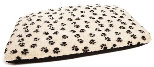 Dog Bed Duvet Paw Print Beige