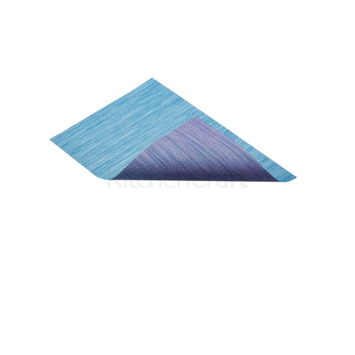 Placemat Woven Blue Reversible