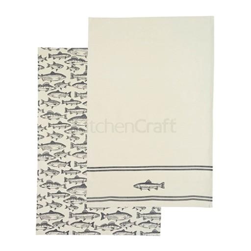 Tea Towel Set Fish Design