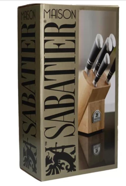 Sabatier Maison Ashwood 5 Piece Knife Block Set