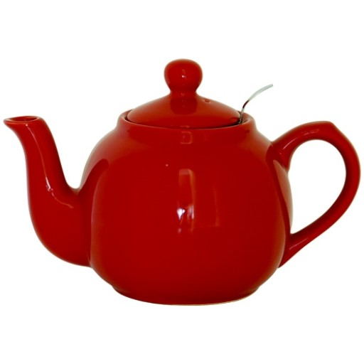 Teapot Farmhouse Red With Filter