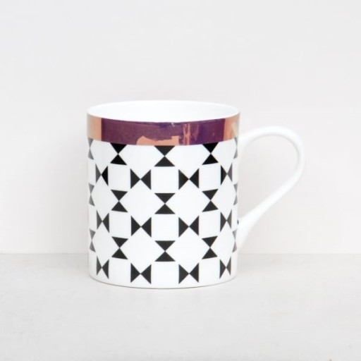 Caroline Gardner Geometric Bone China Boxed Mug