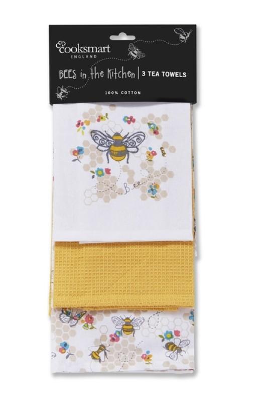 Cooksmart Busy Bees Tea Towel