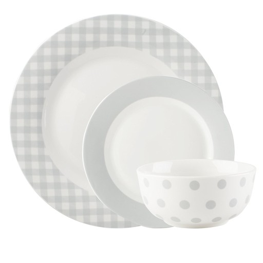 Mikasa Country Kitchen Dinner Set Warm Grey