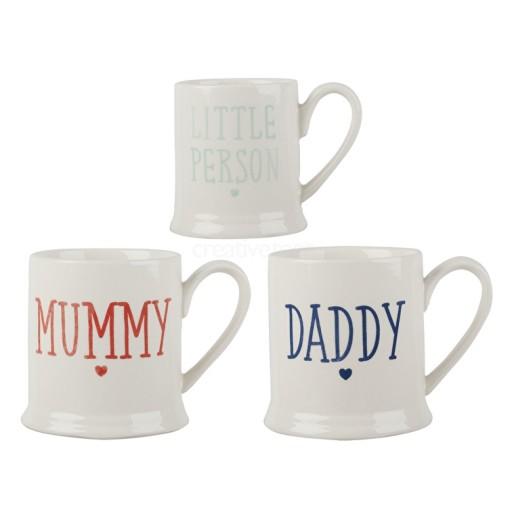 Family Set Of 3 Tankard Mugs