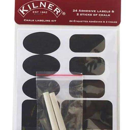 Kilner Label Set Chalk