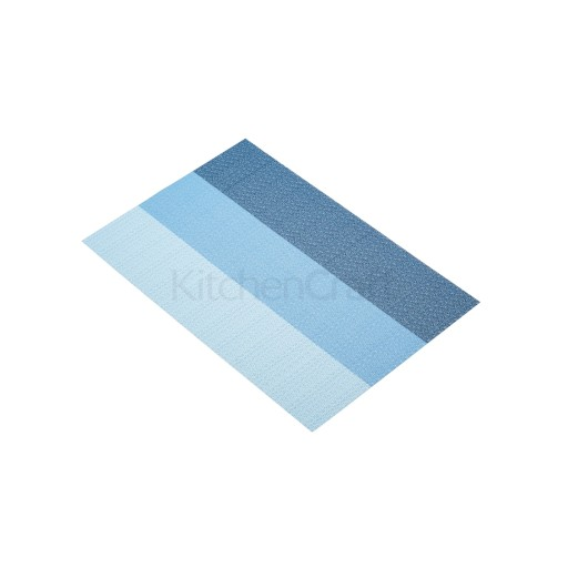 Placemat Woven Blue Stripes