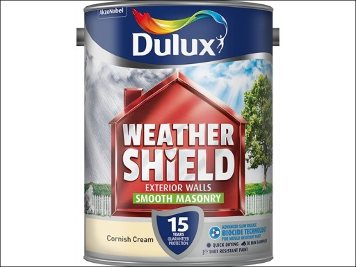 Dulux Weather Shield Smooth Cornish Cream 5L