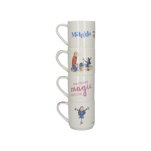 Roald Dahl Matilda Set Of 4 Stacking Mugs