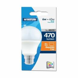 Status 6 Watts BC GLS LED Light Bulb