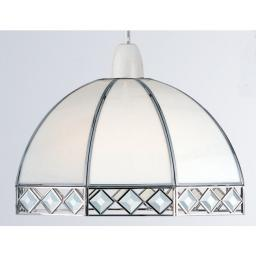 Pear /Bevelled Glass Chrome 25Cm lamp shade