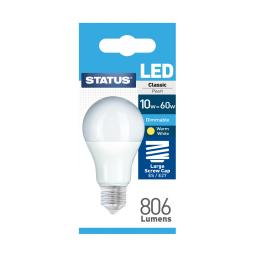 10 Watt ES LED GLS Dimmable Lightbulb