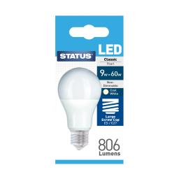 9W ES GLS COOL WHITE LED