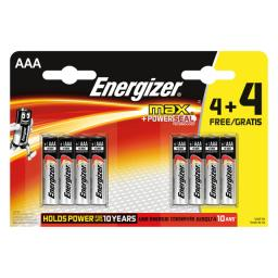 Energizer Max AAA 4+4 Pack