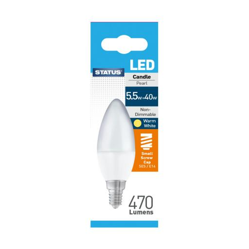 Status 5.5 watt LED E14 Candle Bulb