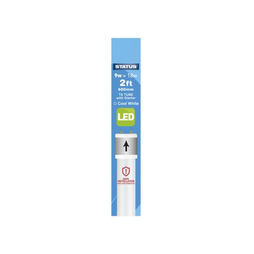 2FT 9Watt 750 Lumen LED Fluorescent Tube