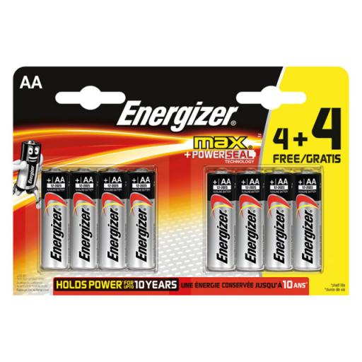 Energizer Max AA 4+4 Pack