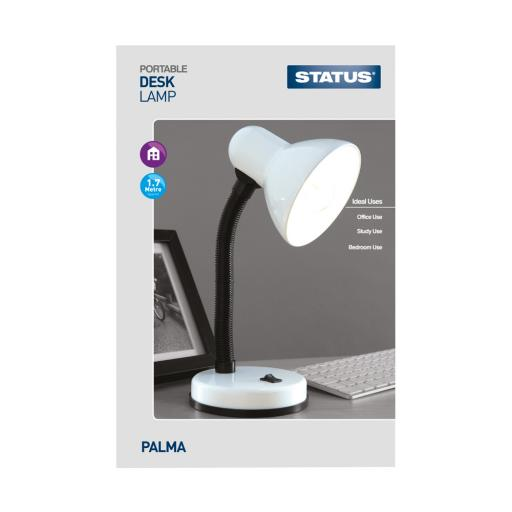 STATUS PALMA DESK LAMP WHITE