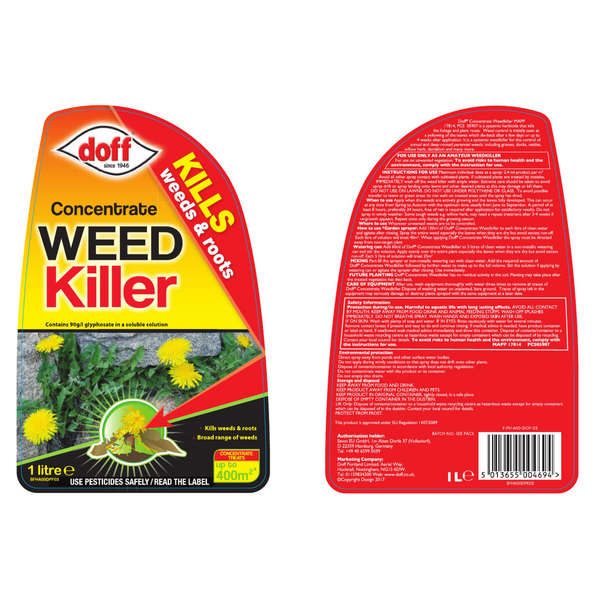 Doff Weedkiller Concentrate   Staines and Brights