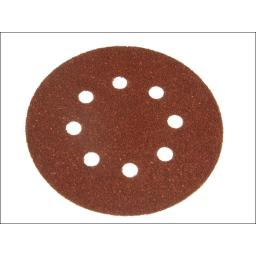 Perforated Sanding Discs 125mm Extra Coarse (Pack of 5)