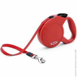 Flexi Classic Compact Mini Rope Retractable Lead for Dog 3 M Red