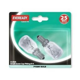 Eveready S1064 Clear Pygmy 25W SES x 2