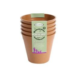 "5"" BAMBOO POTS - TERRACOTTA (PACK OF 5)"