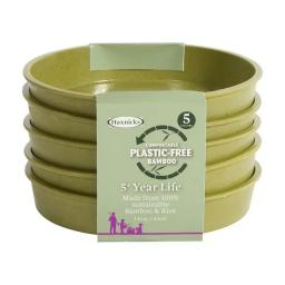 Bamboo Saucer 5in Sage Green x 5