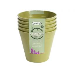 Bamboo Pot 6in Sage Green x 5