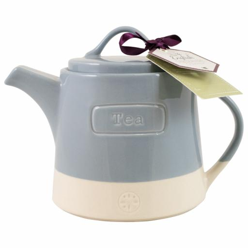 English Artisan Teapot Blue