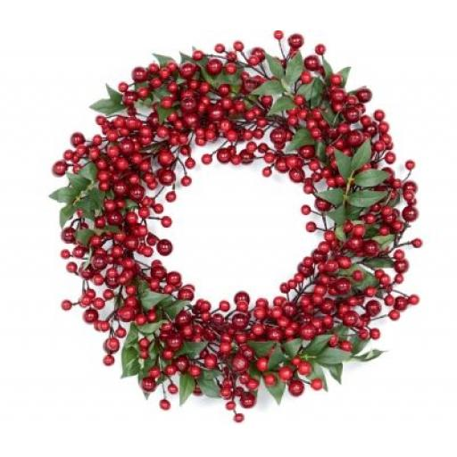 Premier Naked Red Berry Christmas Wreath