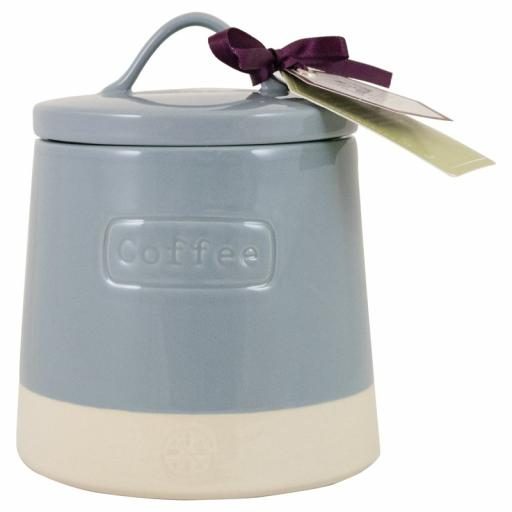 Coffee Canister Artisan Hare Blue