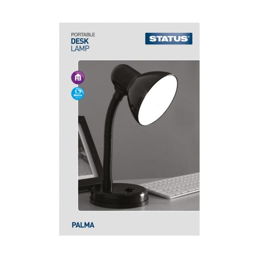 Status Palma Desk Lamp with Flexi Neck, Black