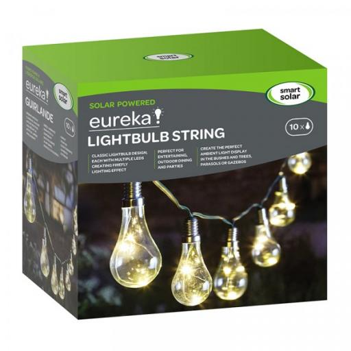 Smart Solar Light Bulb String x 10