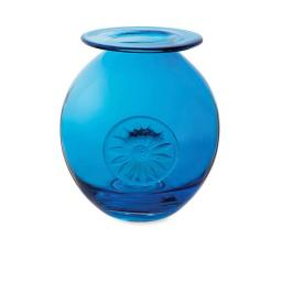 Dartington Vase Flower Globe Daisy Turquoise