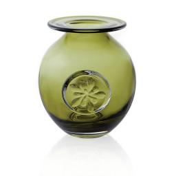 Dartington Vase Flower Globe Green