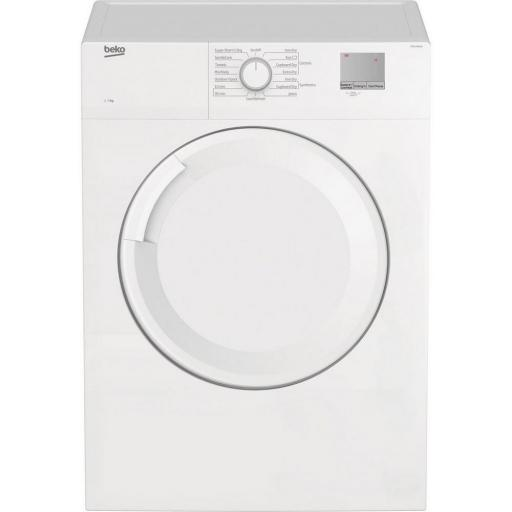 Beko DTGV7001W 7 kg Vented Tumble Dryer - White - C Energy Rated
