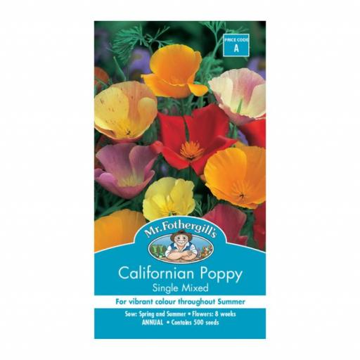 Californian Poppy Single Mixed