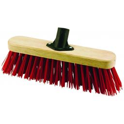 Elliott Broom Head with Stiff Red PVC Fibres