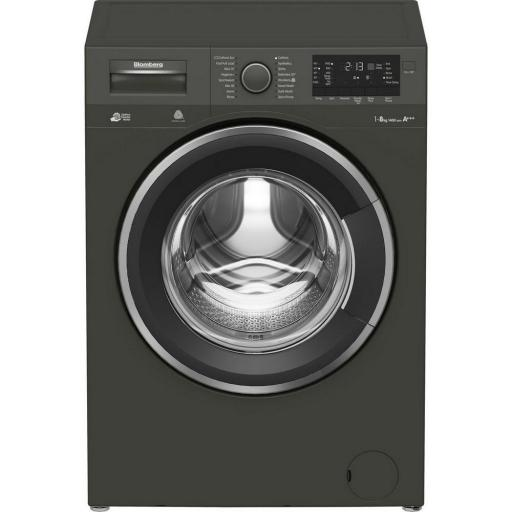 Blomberg LWF284421G 8kg 1400 Spin Washing Machine - Graphite - A+++ Energy Rated