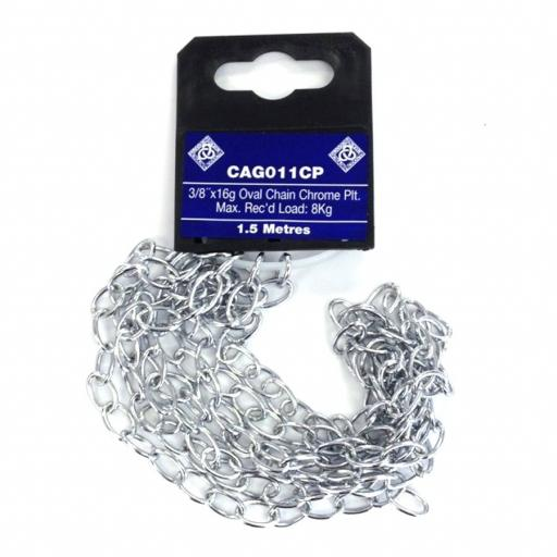 Oval Chain Brass Chrome Plated