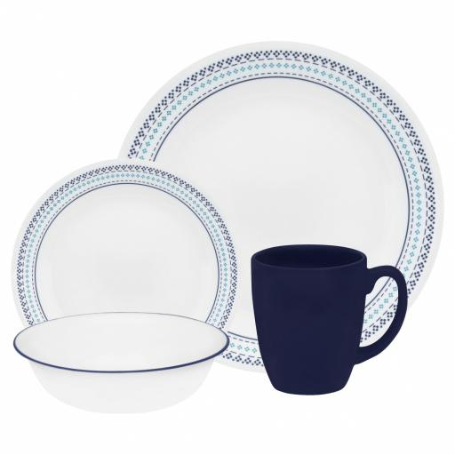 Corelle Dinner Service Folk Stitch