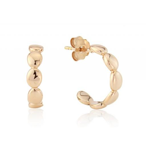 Gemma J Rose Gold Pebble Earrings