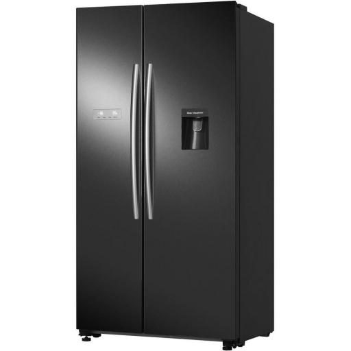 HISENSE RS741N4WB11 American Style Fridge Freezer - Black - A+ Rated