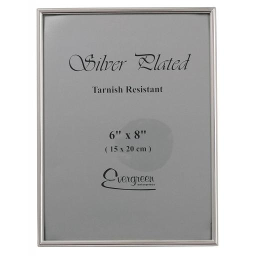 "Silver Thin Edge Photo Frame 6"" x 8"""